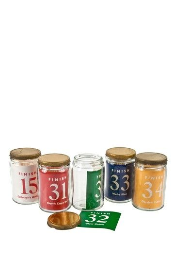 1950s Paint Sample Jars & Labels
