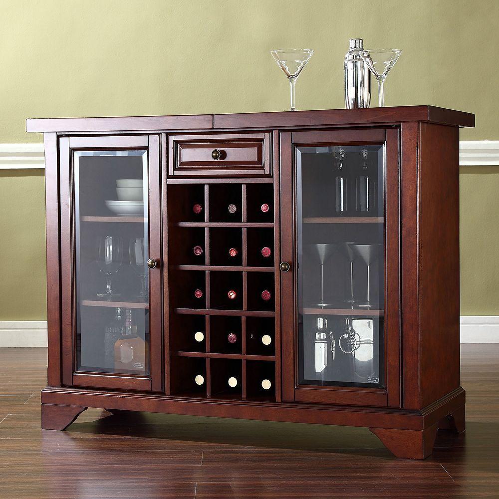 Crosley Furniture LaFayette Sliding Top Bar Cabinet   Home ...
