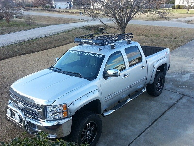 Rugged Silverado With Fender Details Roof Basket And