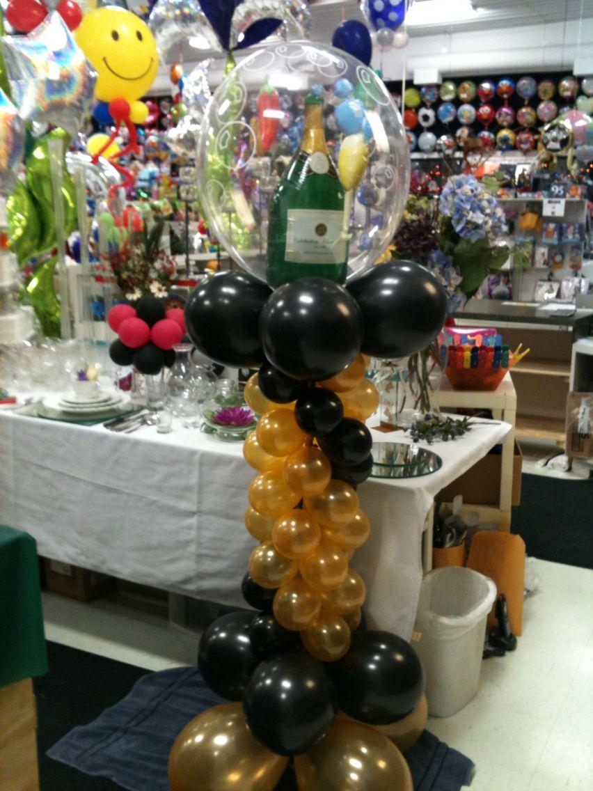 Champagne column Balloon display, Balloons