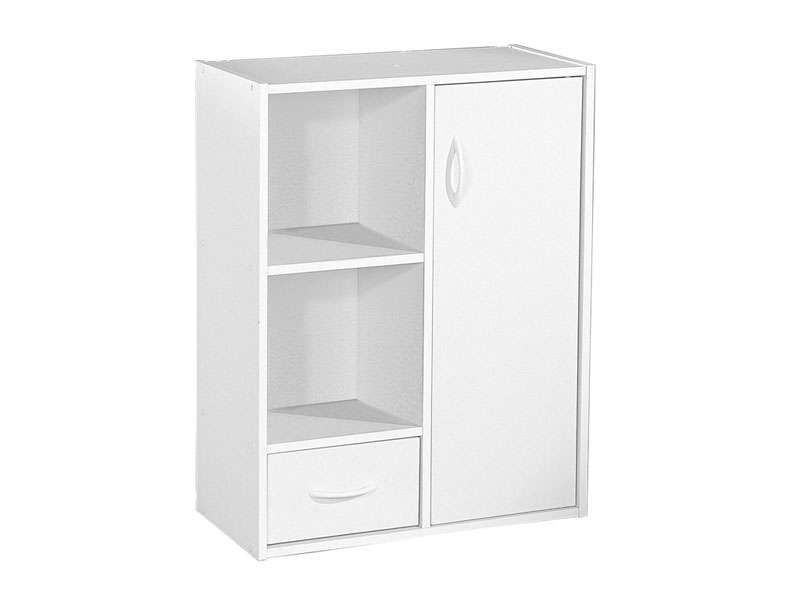 Biblioth¨que modulable 2 cases 1 porte 1 tiroir MODULO coloris
