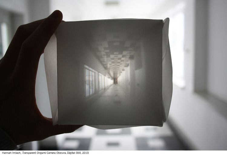 origami camera obscura hannah imlach printmaking and