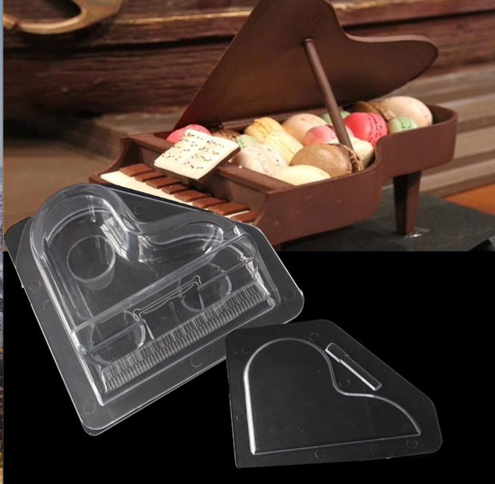 3D Piano Shape Plastic Chocolate Mold, Polycarbonate ...