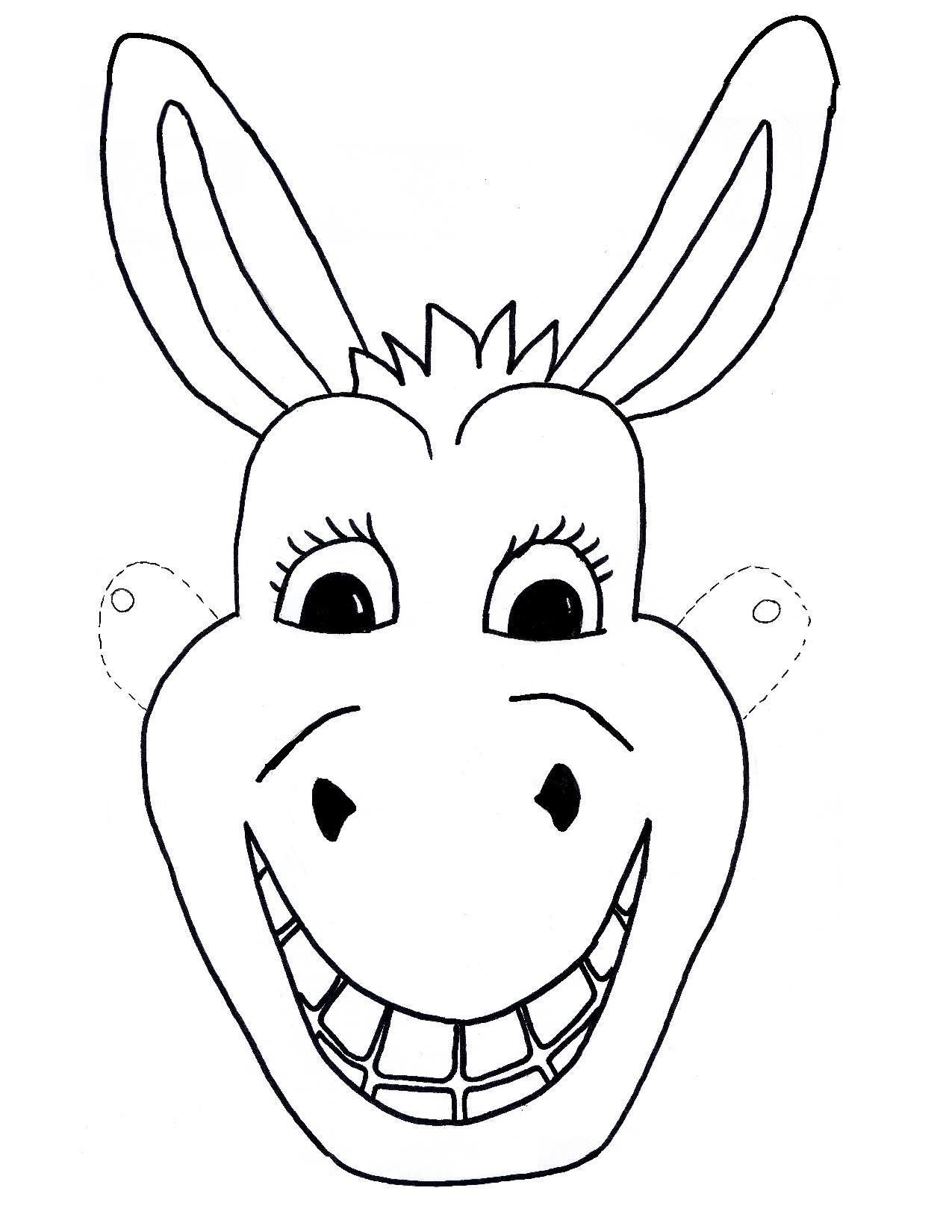 children s mask templates - template free kids mask donkey craft children sunday