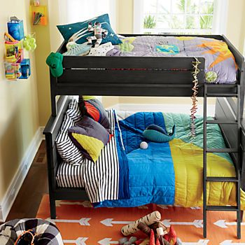 Wrightwood River Blue Twin Over Full Bunk Bed Boys Bedroom