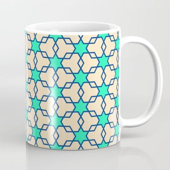 Retrostar #2 (By Salomon) #mug #design #breakfast #desayuno #taza #kitchen #cocina #diseño #painting #art #mix #decor #decoration #interior #breakfast desayuno #coffee #tea #marble #texture #patter #mosaic #mosaico #stars #universe #retro #society6 @society6
