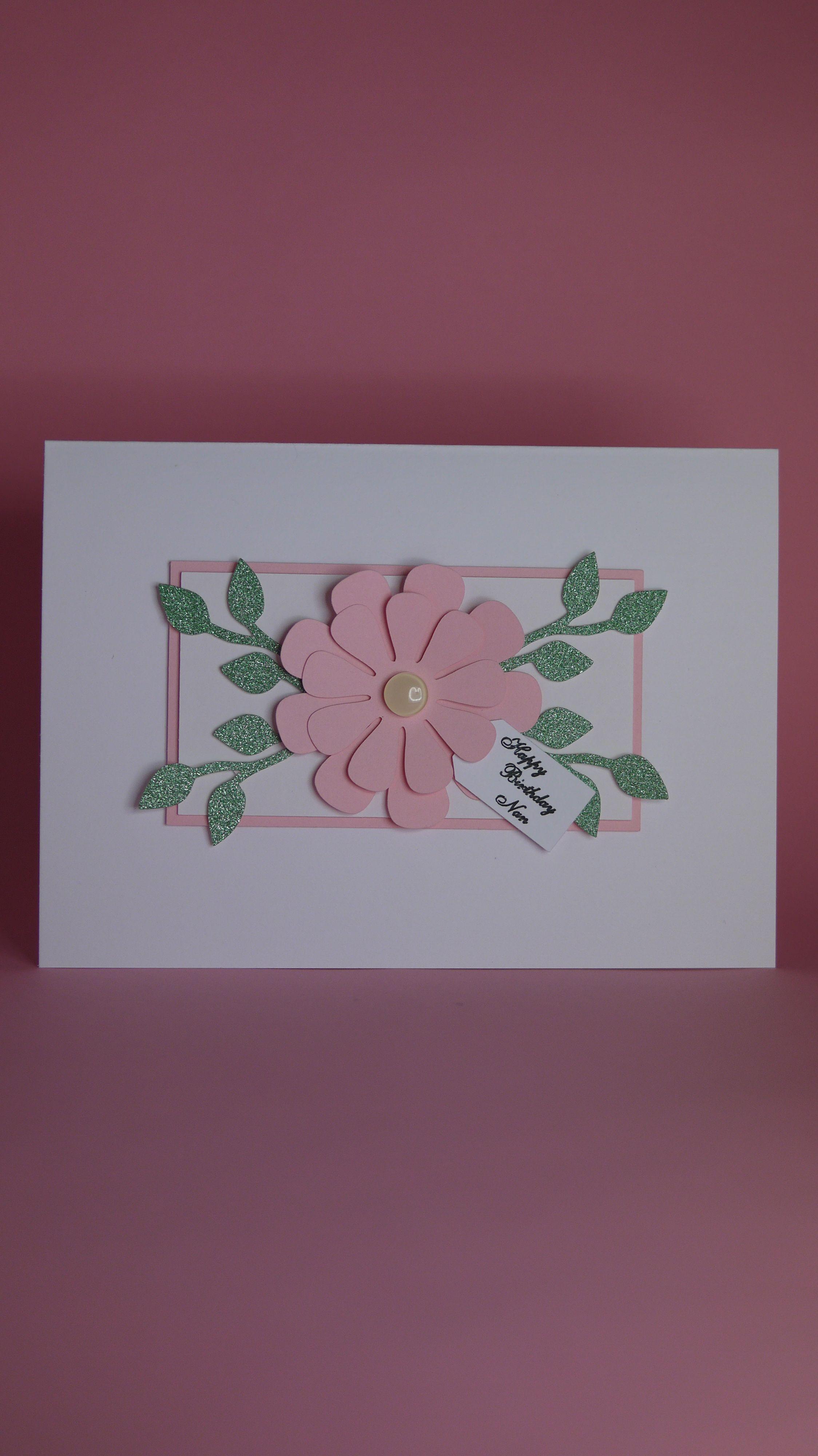 Handmade pink flower birthday card birthday card for her female handmade pink flower birthday card birthday card for her female birthday card pink flower birthday card card with flowers pretty flower izmirmasajfo Choice Image