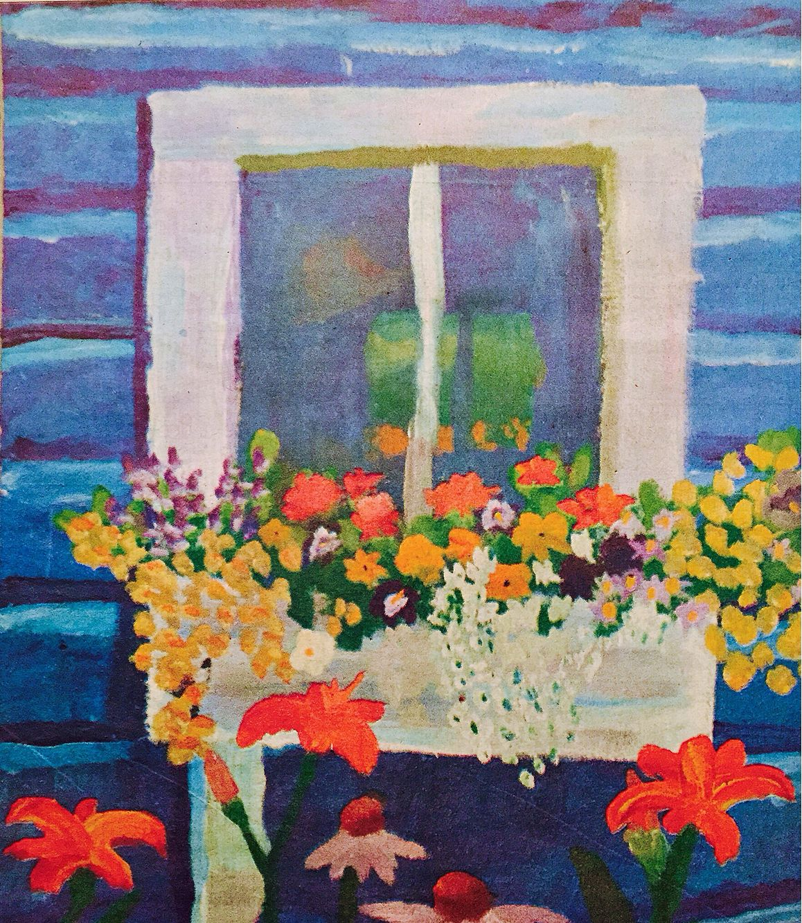 Olivia's Flowerbox | Olivia Apergis, 2009 | impressionism with acrylics