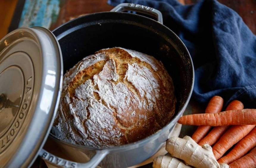 grytbröd med ingefära och morot