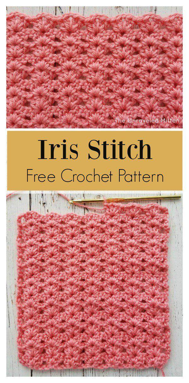 Iris Stitch Free Crochet Pattern | Charts | Pinterest ...