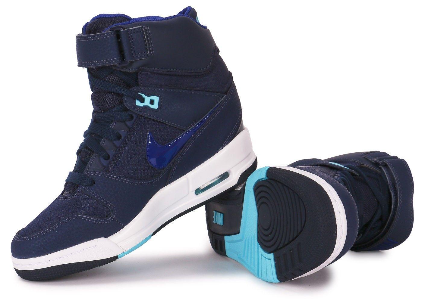 Nike AIR REVOLUTION SKY HI BLEU MARINE - Chaussures Nike - Chausport