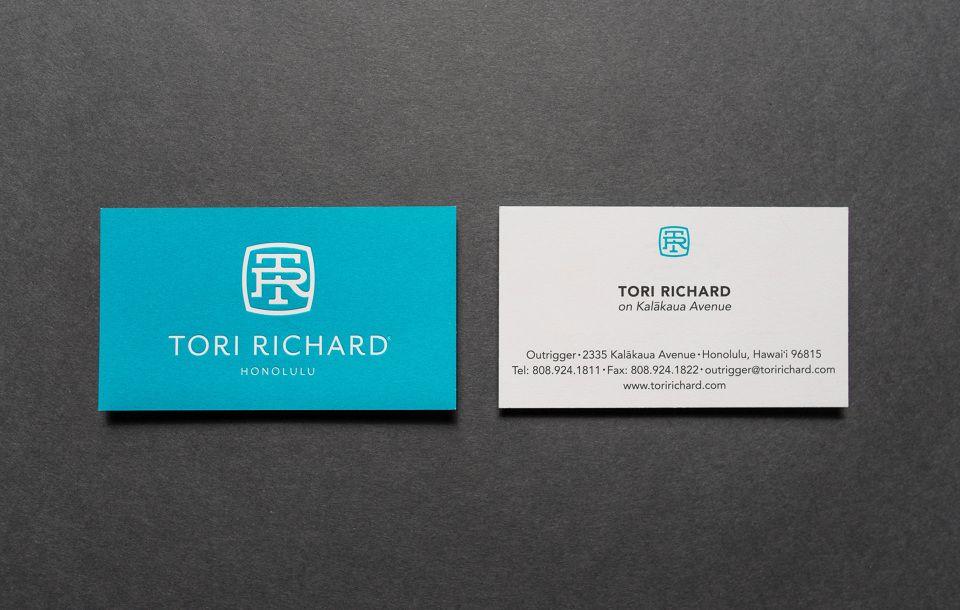 Tori Richard - Scott Naauao | Creative / Innovative Business Cards ...