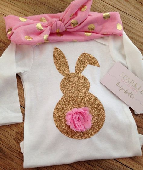 c59b35d0789d6 Easter bunny shirt Baby girls easter outfit Easter by BespokedCo