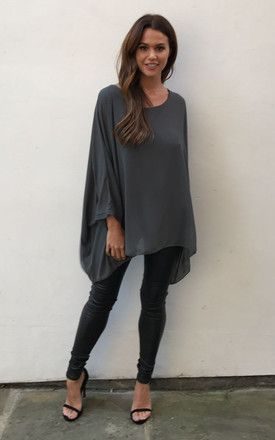 de51ddcbe9e Grey Batwing Top by Lilah Rose