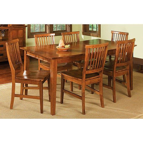 Kitchen Dining Table Set Solid Wood Furniture Extension Leaf Chairs Rectangle