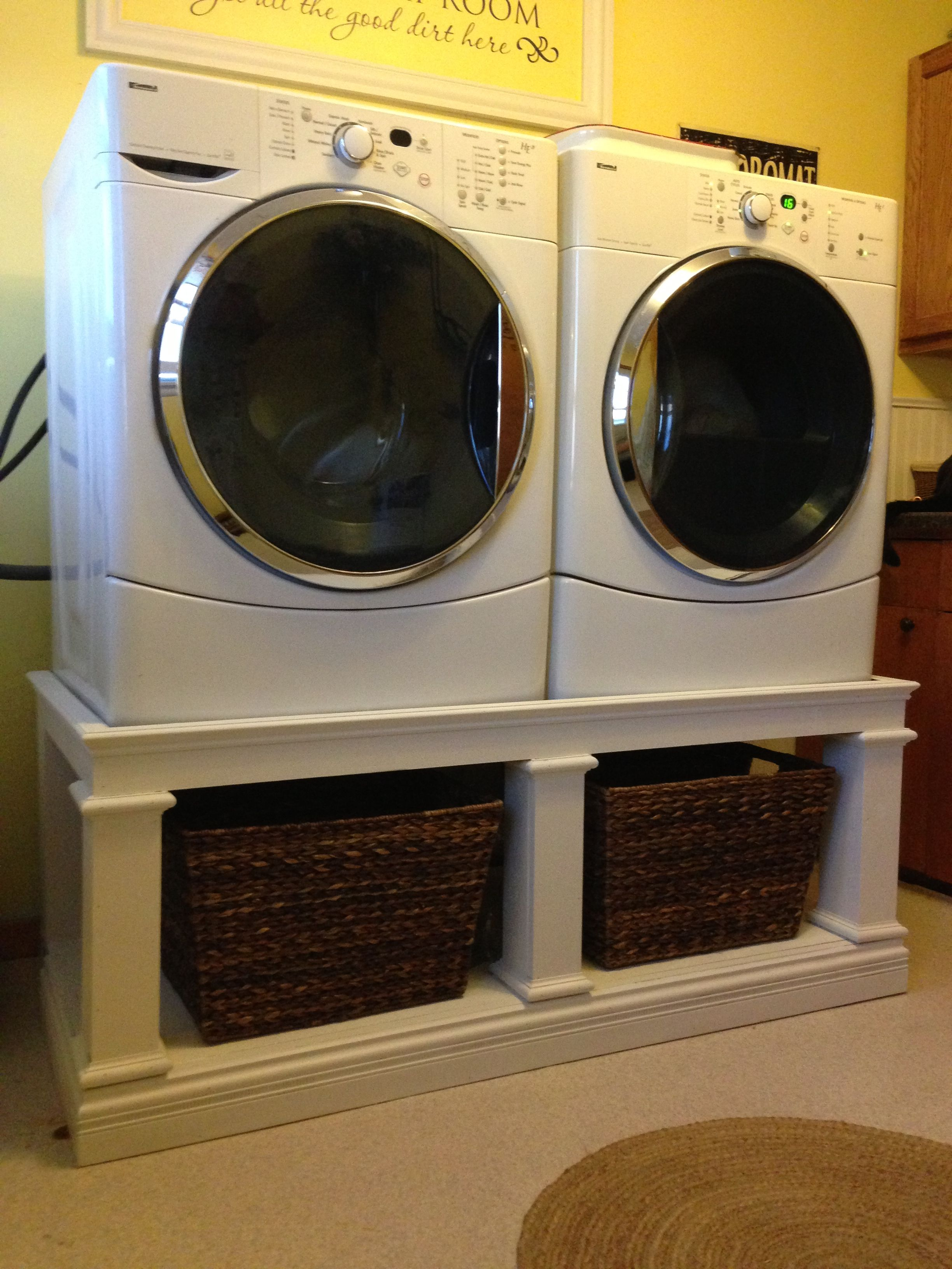 Front load washer dryer stand great way to get your for Kleiner schrank weiay