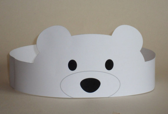 Create your own Polar Bear Crown! Print, cut & glue your polar bear crown together & adjust to fit anyones head! • A .pdf file available for instant download to you once payment has been received. • This listing is for a digital file. No printed materials will be shipped. You may print as many as you wish at home. Print file at actual size, do not scale when printing. SUPPLIES YOU WILL NEED: • Cardstock or standard paper - 8.5 x 11/Letter Size • Scissors • Glue or Tape • Optio...