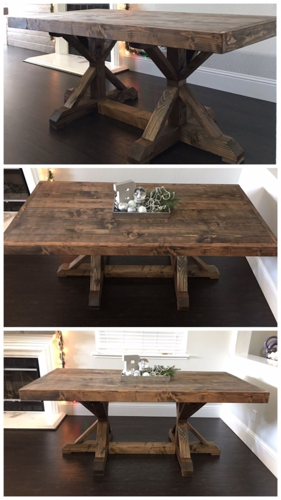 Room · 6FT X 3FT Solid Wood Rustic Farm House Dining Table In Pleasant ...