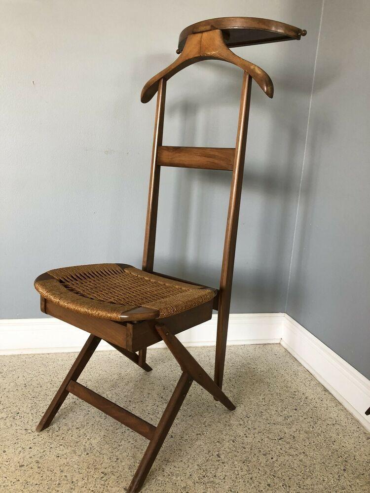 Hans Wegner Danish Modern Valet Chair Flip Up Seat Yugoslavia Ebay In 2020 Valet Chair Chair Danish Modern