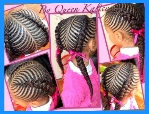 Braiding Hairstyles For Kids Children's Braided Hairstyles Step Step  Liked Hairstyles Regarding