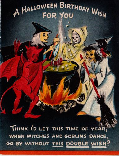 1950s halloween birthday card halloween greetings pinterest 1950s halloween birthday card bookmarktalkfo Images