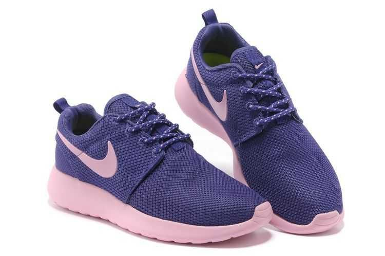 Nike Roshe Run Ladies Purple Pink Mesh Shoes