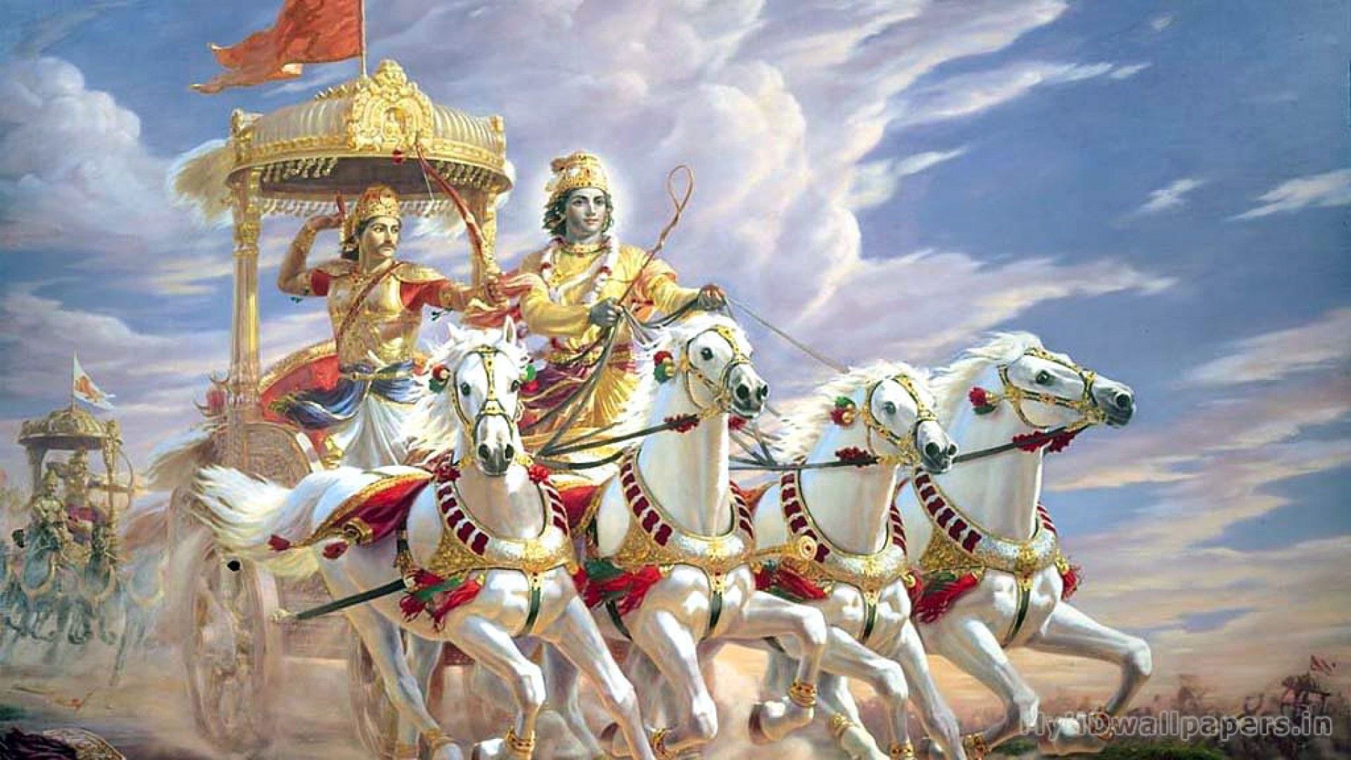 Click Here To Download In Hd Format Mahabharat Wallpaper Desktop Hd Http Www Superwallpapers In Wallpaper M Bhagavad Gita The Mahabharata Krishna