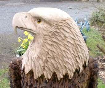1 Adler Holzadler Holzfiguren Holzschnitzerei