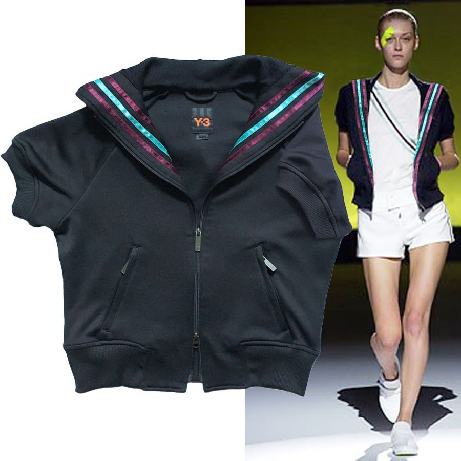 Y 3 Adidas Yohji Yamamoto Varsity Jacket Track Bomber Hoodie Athletic Cropped M Yohjiyamamoto Bomber Casual Jackets Varsity Jacket Athletic Jacket