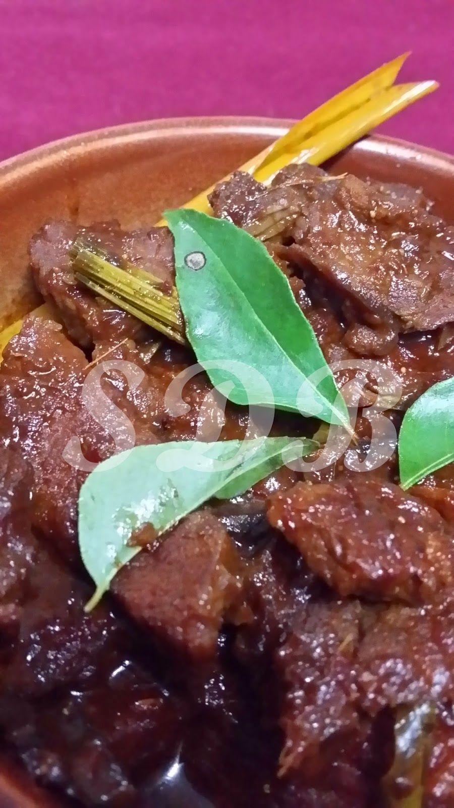 Sajian Dapur Bonda Daging Masak Itam Nasi Kandar Menggunakan Periuk N