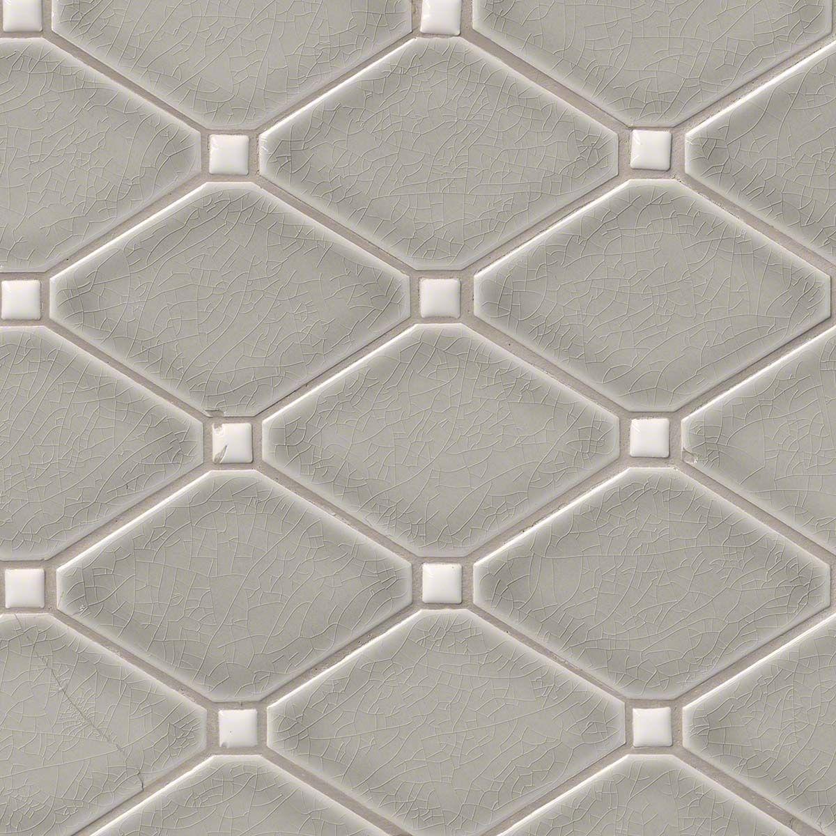 Backsplash Accent Panel Option Dove Gray Diamond 8mm