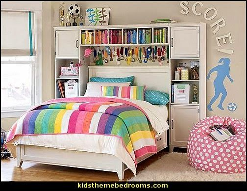 soccer themed bedroom for girls | girls sports themed bedroom