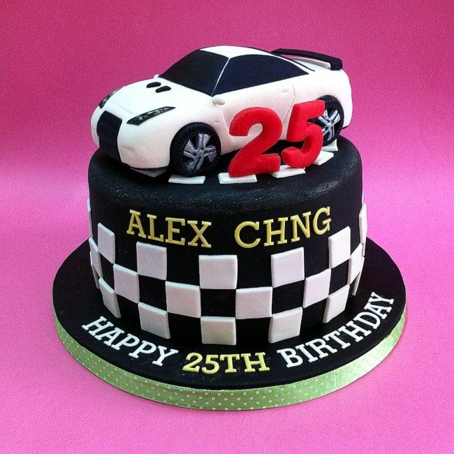 Fondant 3d Nissan Gtr Birthday Cake Free Delivery Kuala Lumpur