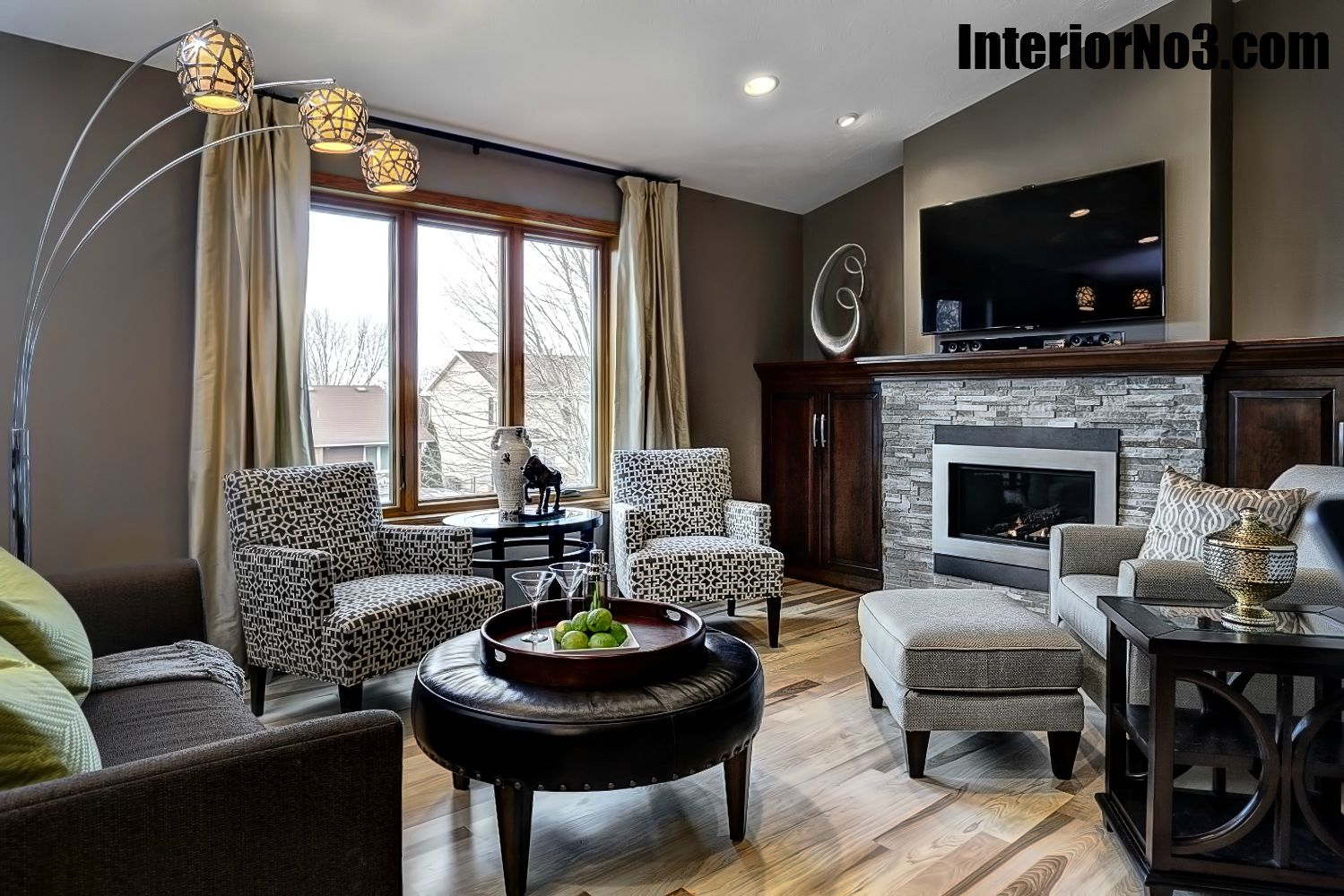 Living Rooms Layouts: Contemporary Split Level Remodel
