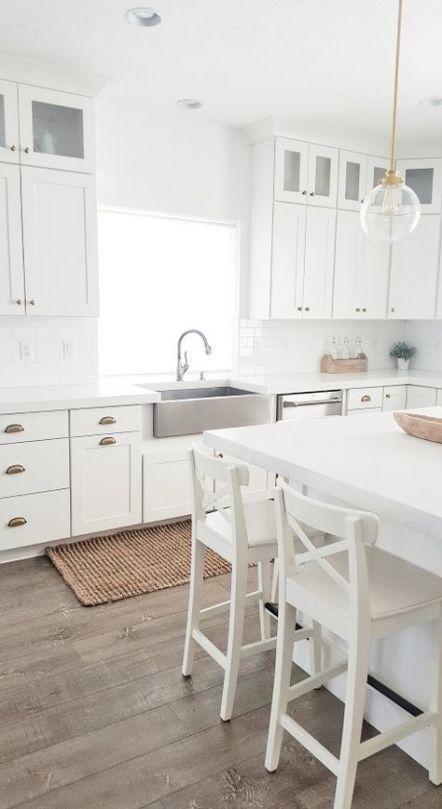 70 trendy ideas for farmhouse kitchen white cabinets brass hardware kitchen f farmhouse on farmhouse kitchen hardware id=14943