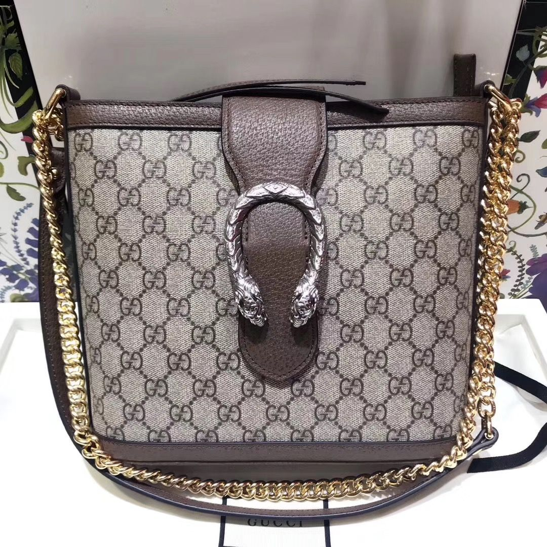 28f6ddc4690 Gucci GG Supreme Dionysus Medium GG Bucket Bag 499622 2018