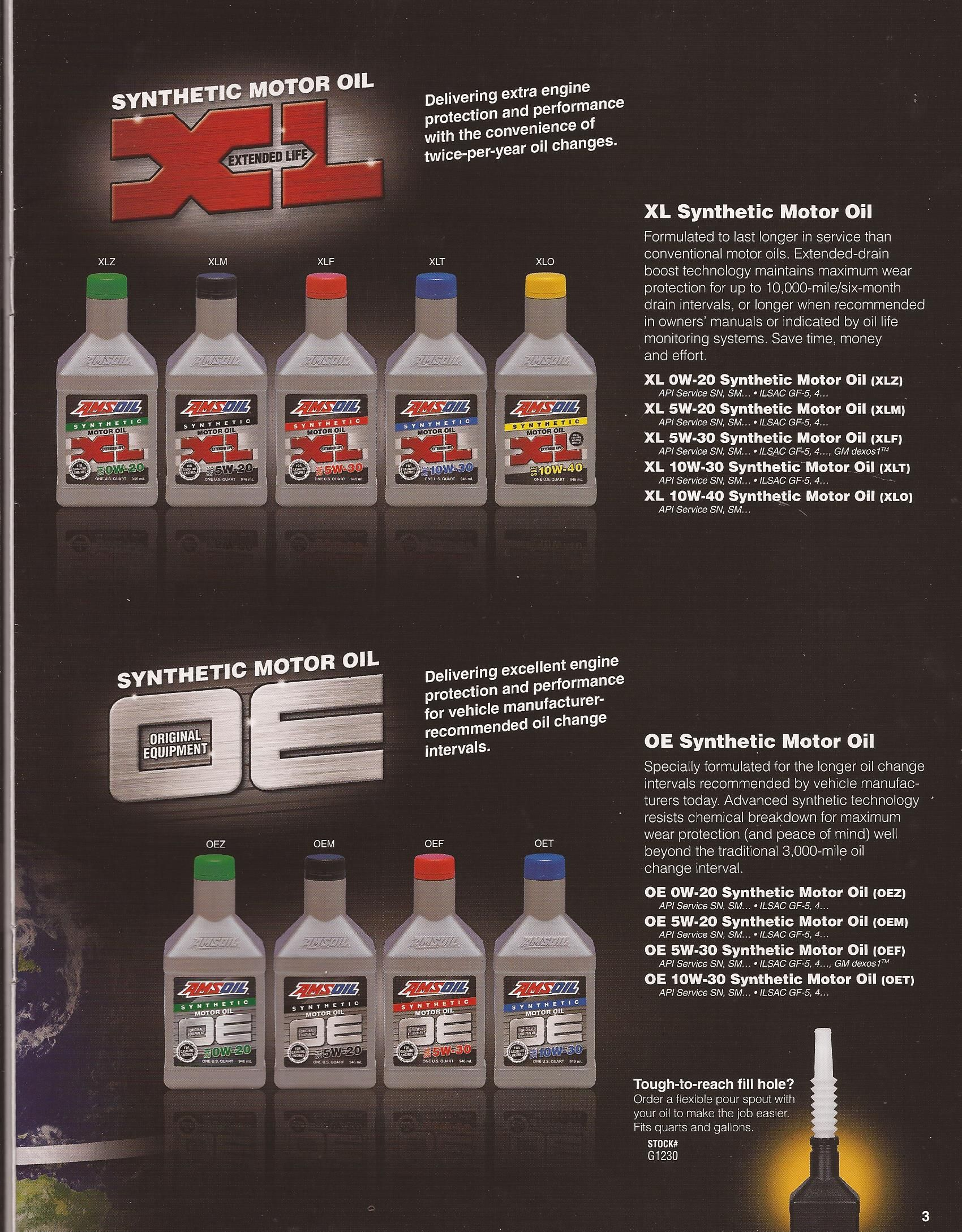 Xl Oils For 10 000 Miles Or Six Months Oe For Oem Oil Change