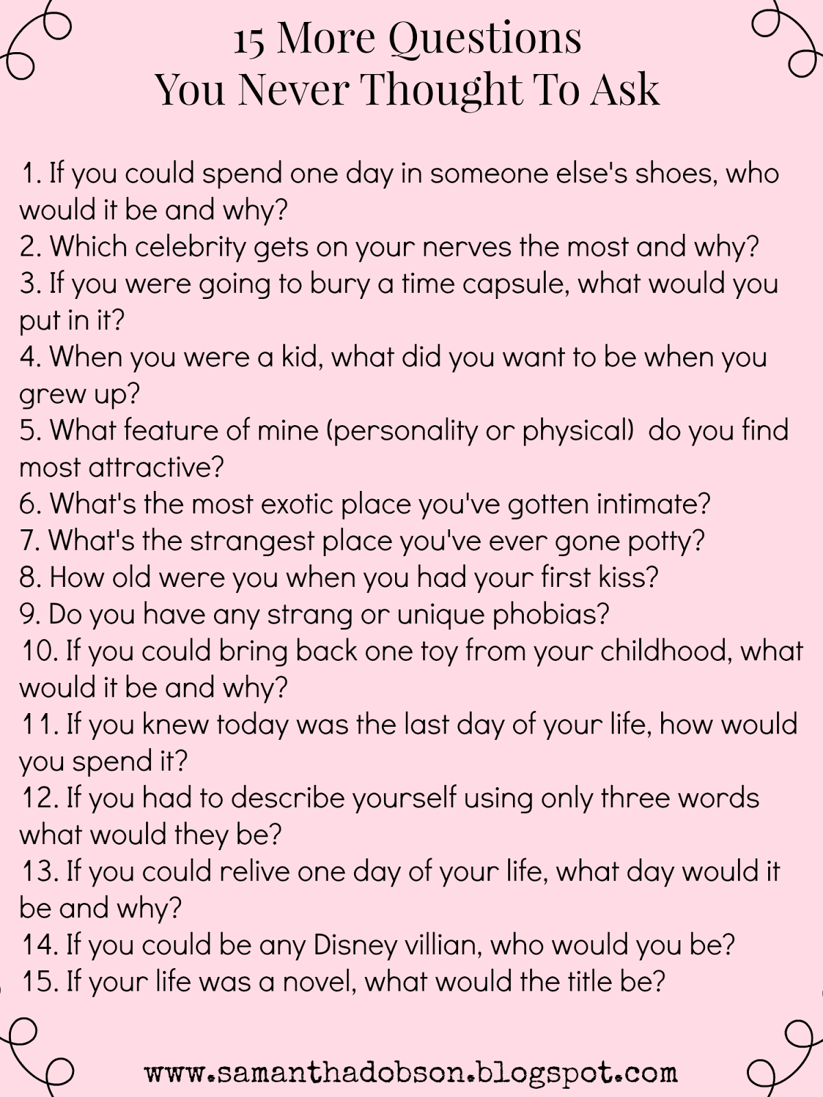 21 questions before dating