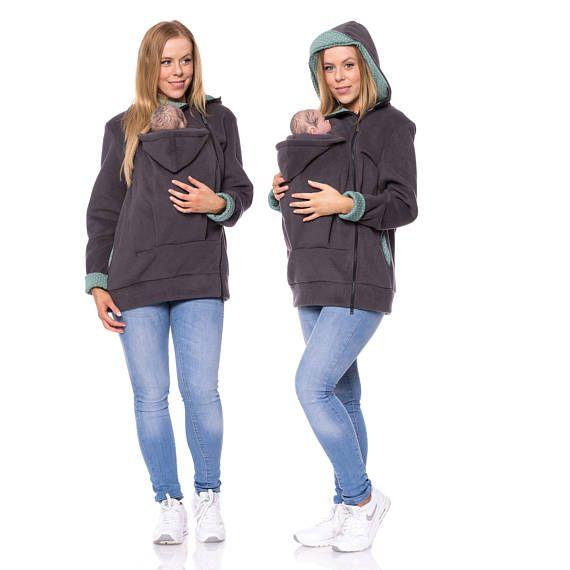 Babywearing jacket fleece, baby carrying jacket, baby carrier jacket ...
