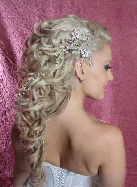 Beautiful bridal hair #wedding #hair #bridal