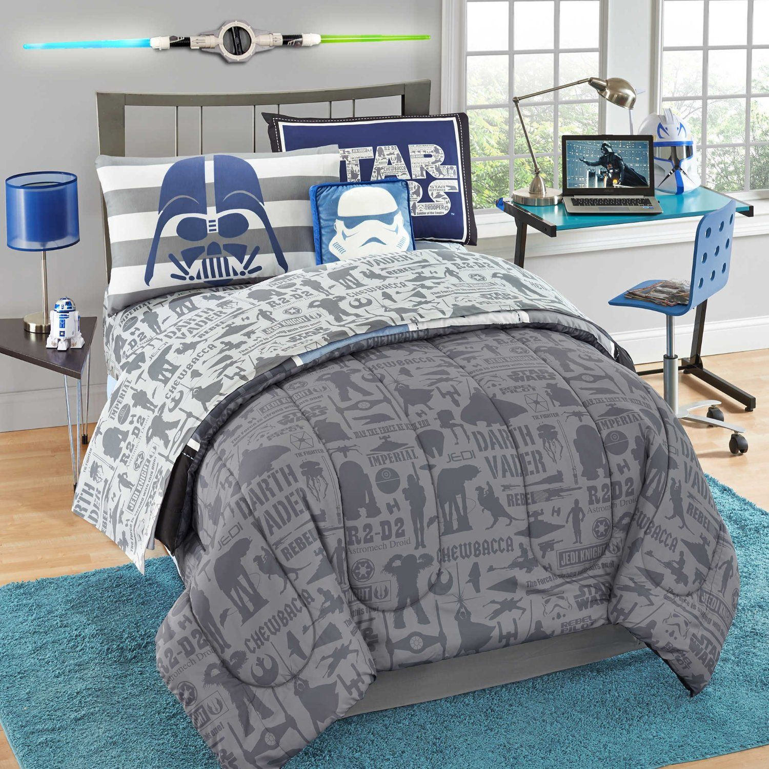 queen comforter boxlunch res hero fighter largeimages geometric product loading hi tie star zoom wars twin pdp full
