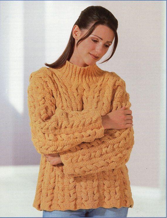 1654a9c11 Ladies Knitting Pattern ladies sweater velvet sweater by Hobohooks ...