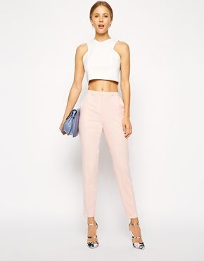Image 1 of ASOS Cigarette Pants In Crepe