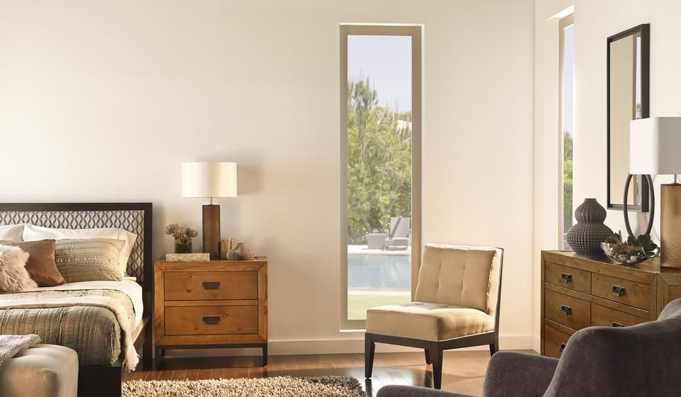 Best Simple Bedroom White Walls Tall Rectangular Windows 400 x 300