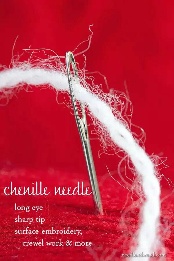 Chenille Needles Embroidery Stitches Pinterest Embroidery