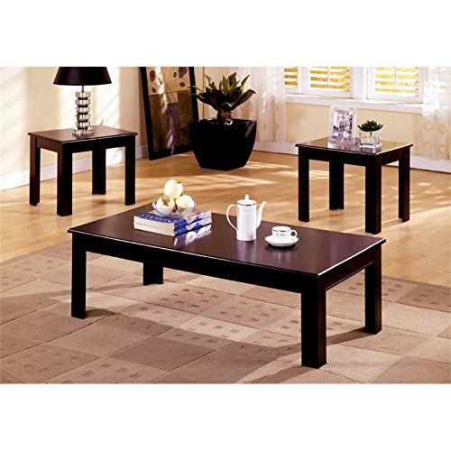 furniture of america stanton 3 piece coffee table and end table set