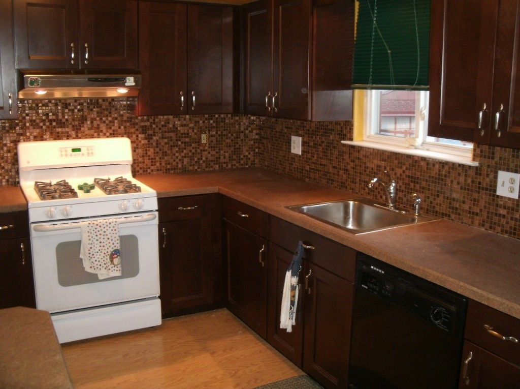 Dark Wood Cabinets With A White Stove Does NOT Look Good CabinetsWhite Kitchen