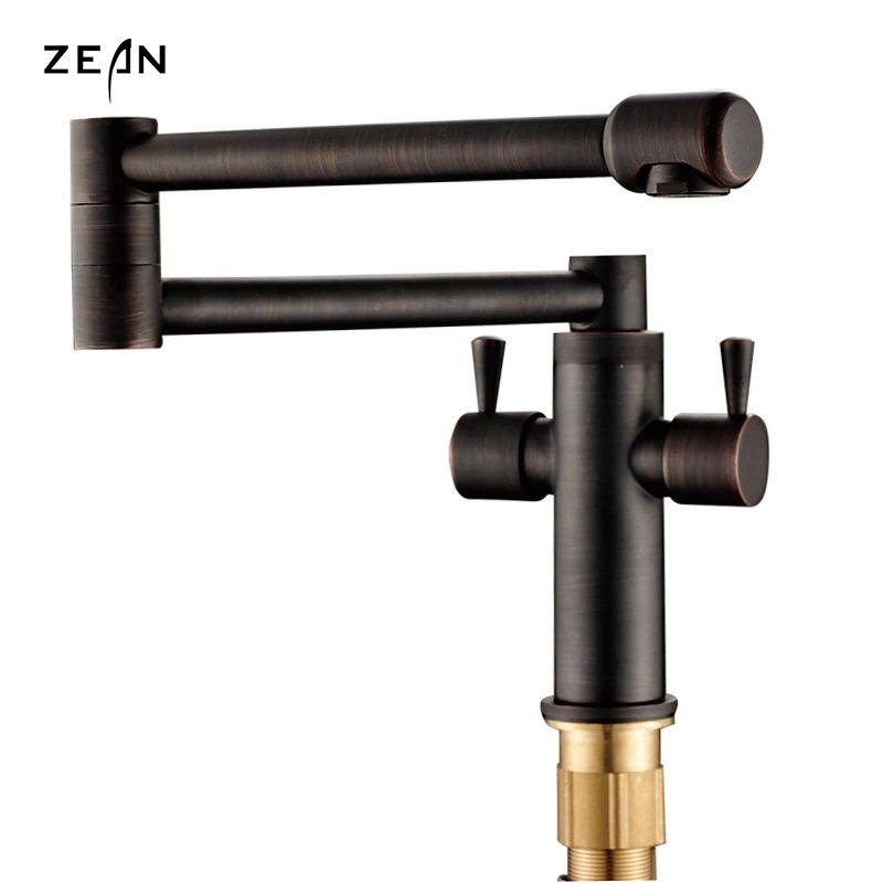 Free shipping Brand Faucet Brushed Metal Black Bronze Kitchen ...