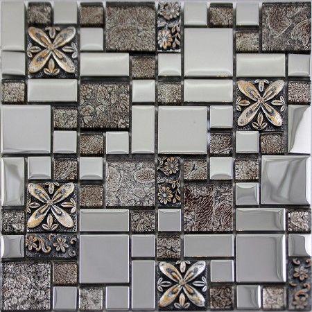 Gl Mosaic Tiles Blacksplash Crystal Tile Bathroom Plated Wall Porcelain Stickers Gsb03