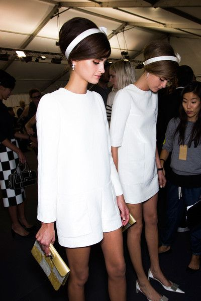 More sixties inspiration with classic headband and backcomb at Louis Vuitton Spring 2013